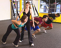 Entrenamiento en suspension TRX